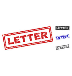 grunge letter textured rectangle watermarks vector image