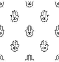 Hamsa icon in black style isolated on white vector image