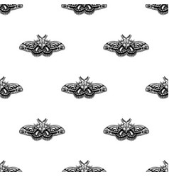 hand drawn background with moth seamless vector image