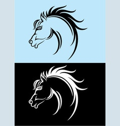 Horse face vector image