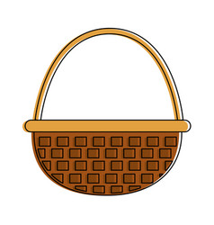 isolated basket design vector image