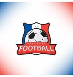 label football championship 2016 vector image