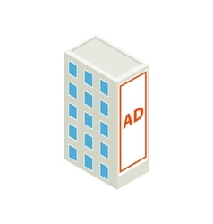 Large billboard on a building wall icon vector image