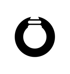 lightbulb and circle logo design vector image