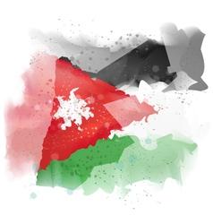 map of Jordan Watercolor paint vector image