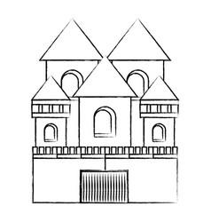 medieval castle icon vector image