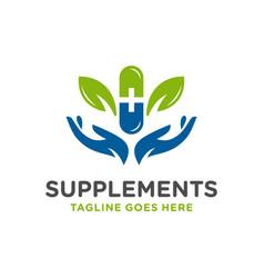 Modern herbal medicine logo vector