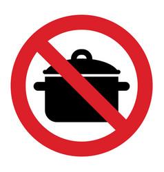 No cooking pan sign vector