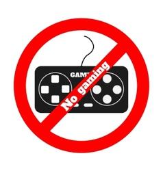 No gaming vector image