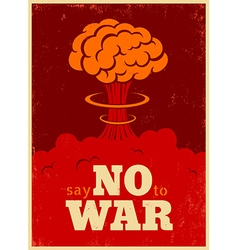 no war red vector image