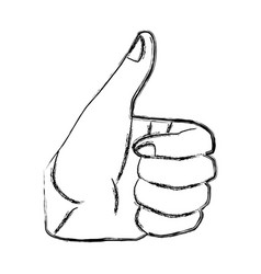 ok hand symbol pop art vector image