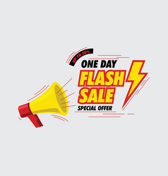 one day flash sale banner vector image