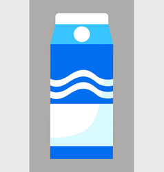 package milk in carton pack dairy products vector image