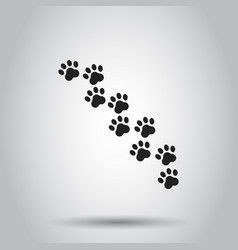 paw print animal icon on isolated background vector image