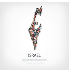 people map country Israel vector image
