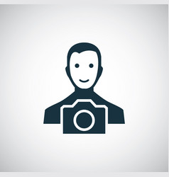 photographer icon for web and ui on white vector image