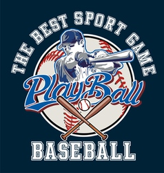 PlayBall baseball vector image