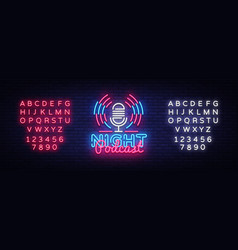 podcast neon sign night design vector image