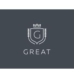 Premium monogram letter g initials ornate vector