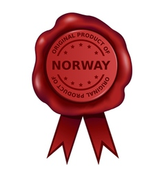 Product Of Norway Wax Seal vector image