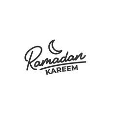 Ramadan kareem lettering calligraphy for islamic vector