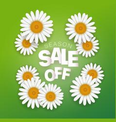 season sale offer season sale banner with white vector image
