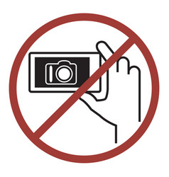 Sign of do not photography vector