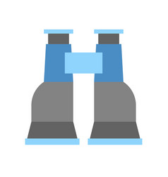 Simple binoculars icon in flat design vector