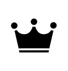 Simple crown flat icon isolated eps 10 vector