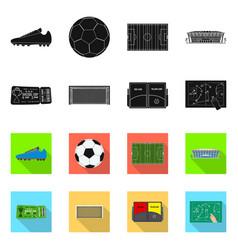 Soccer and gear symbol set vector