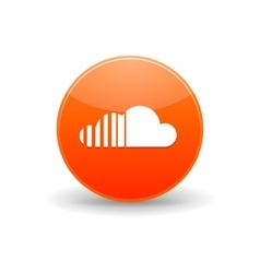 Soundcloud icon simple style vector