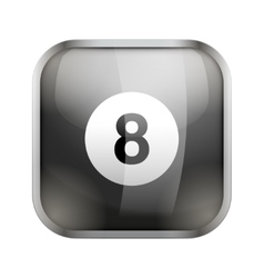 Square icon for billiard app or games vector