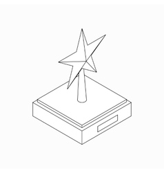 Star award icon isometric 3d style vector