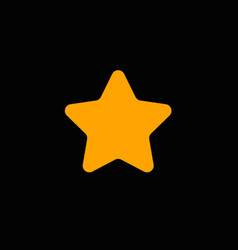 star with round corners vector image