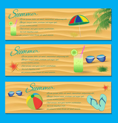 Summer Flyer Template vector