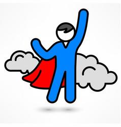 superhero icon vector image