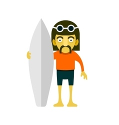 Surfer Men Cartoon Style vector image