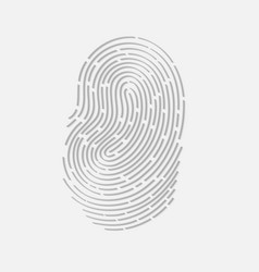 Touch fingerprint id app with shadows vector image