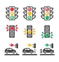 traffic light icon vector image