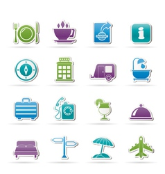 Traveling and vacation icons vector image