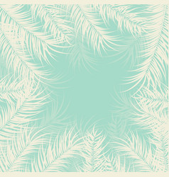 Tropical design with palm leaves and plants vector