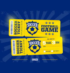 two modern professional design football tickets vector image