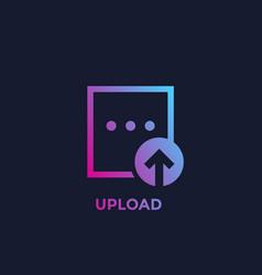 Upload file icon vector