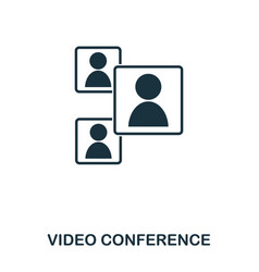 video conference icon mobile app printing web vector image
