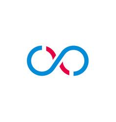 Wavy infinity line abstract logo vector