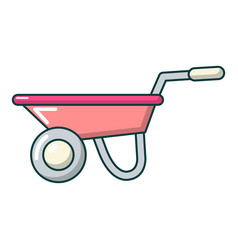Wheelbarrow icon cartoon style vector