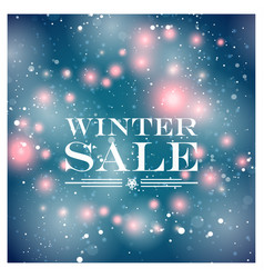 winter sale card vector image vector image