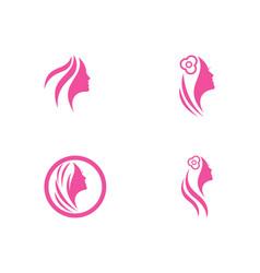women face silhouette vector image
