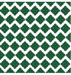 celtic style endless knot symbol seamless pattern vector image vector image