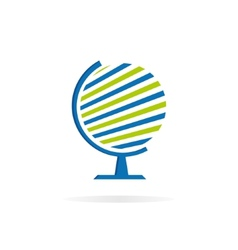 Globe logo template Earth sign vector image